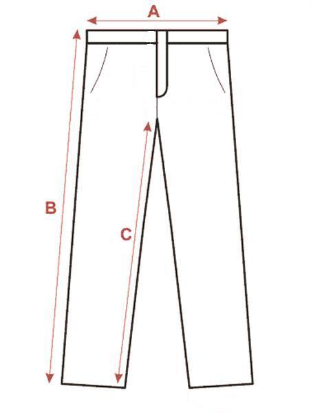 Spodnie bramkarskie Azetx - tabela w cm.