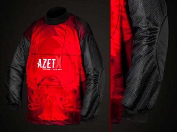 Bluza Bramkarska AZETX z kamizelką czerwona